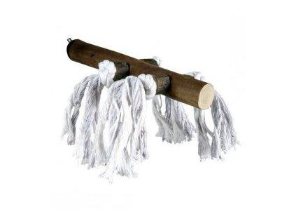 Dřevěné bidýlko s bavlnou malé 20cm/23mm