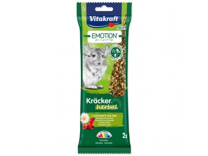 TYČINKY VITAKRAFT EMOTION KRACKER ČINČILA HERBAL 112G