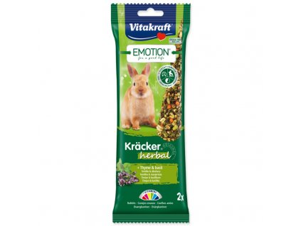 TYČINKY VITAKRAFT EMOTION KRACKER KRÁLÍK HERBAL 112G