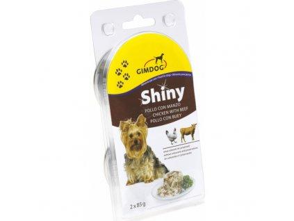 Gimdog konzerva ShinyDog kuře/hovězí 2x85g
