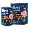 Brit Premium Dog by Nature konz Chicken & Hearts  masové kvalitní konzervy pro psy