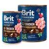 Brit Premium Dog by Nature konzerva Chicken & Hearts  masové kvalitní konzervy pro psy