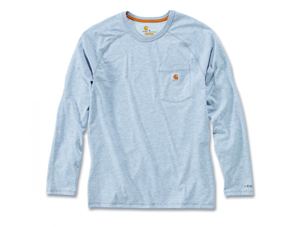 Triko Carhartt šedá FORCE™ Cotton