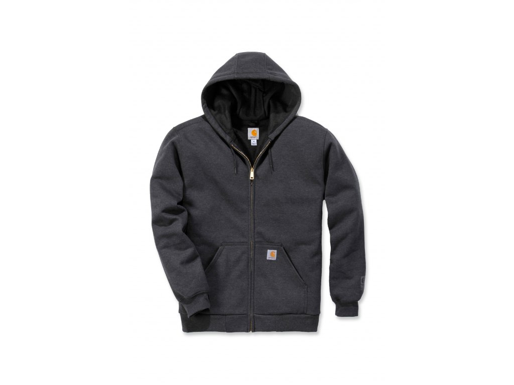 Mikina Carhartt tmavě šedá Rutland Thermal Lined Zip Front Sweatshirt