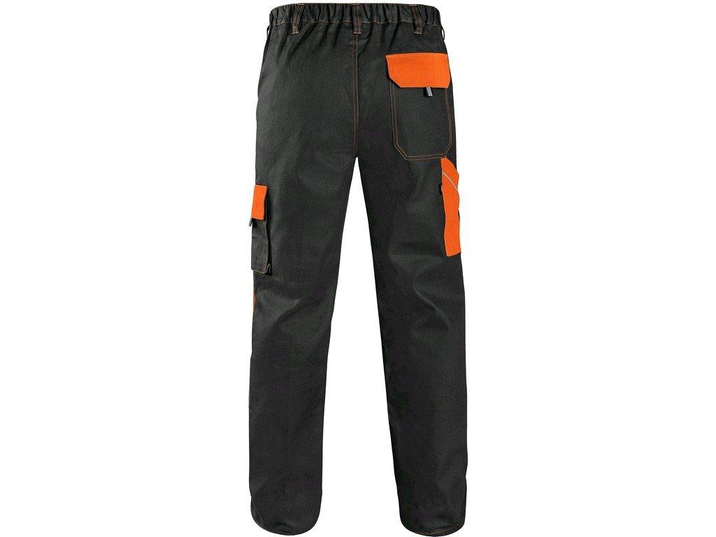 Kalhoty do pasu CXS LUXY JOSEF, pánské, černo-oranžové