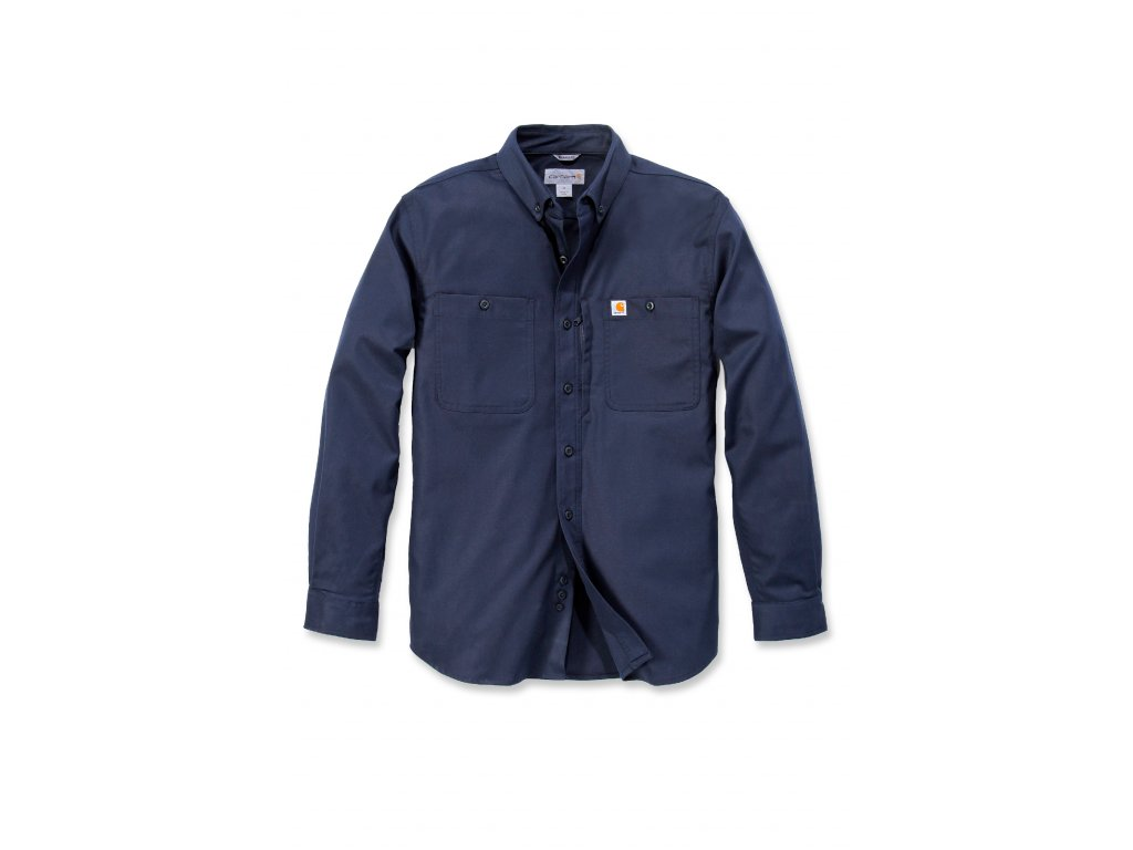 Košile dlouhý rukáv Carhartt tmavě modré Rugged Professional Short Sleeve Work Shirt