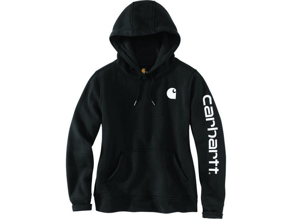 Dámská mikina Carhartt Clarksburg Sleeve Logo Hooded Sweatshirt