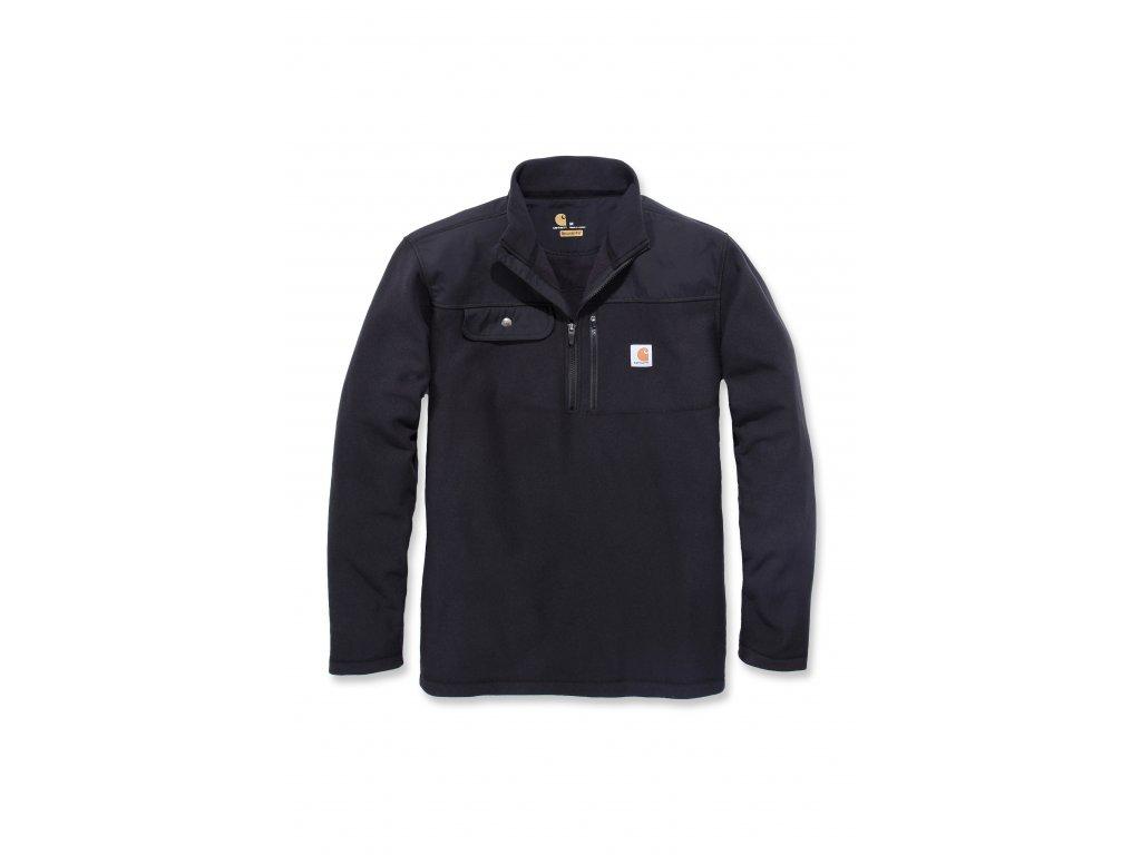 Mikina Carhartt černá Fallon Half-zip Sweatshirt