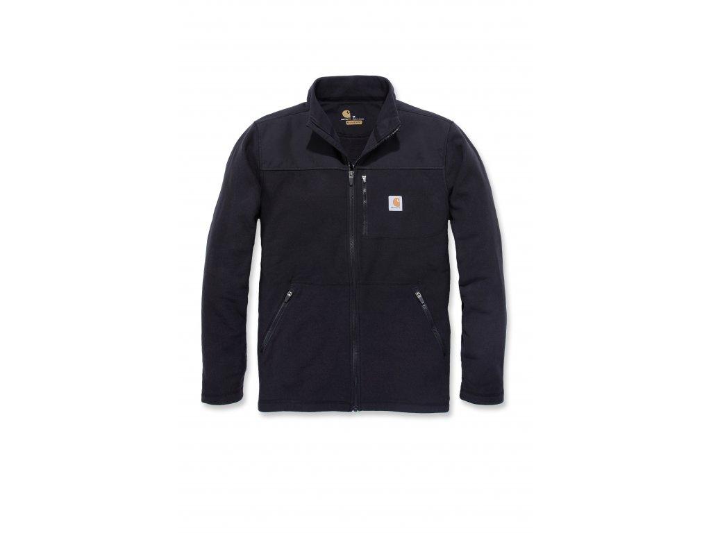 Mikina Carhartt černá Fallon Full-Zip Sweatshirt