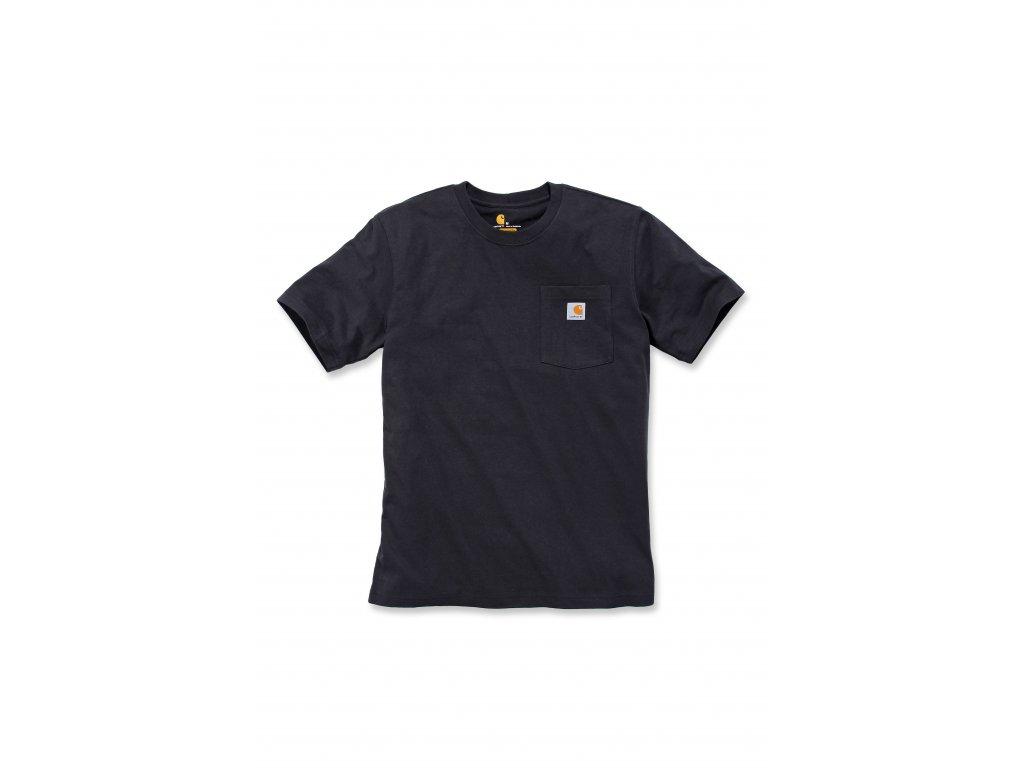 Triko Carhartt černé Workwear Pocket Short
