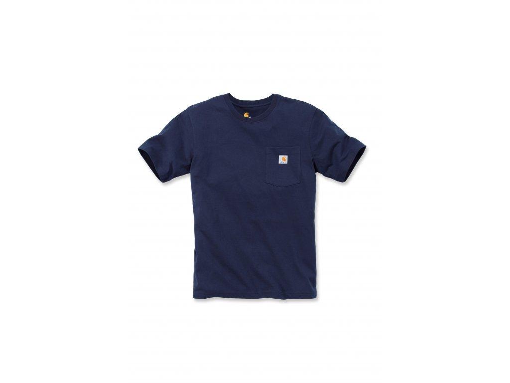 Triko Carhartt modré Workwear Pocket Short