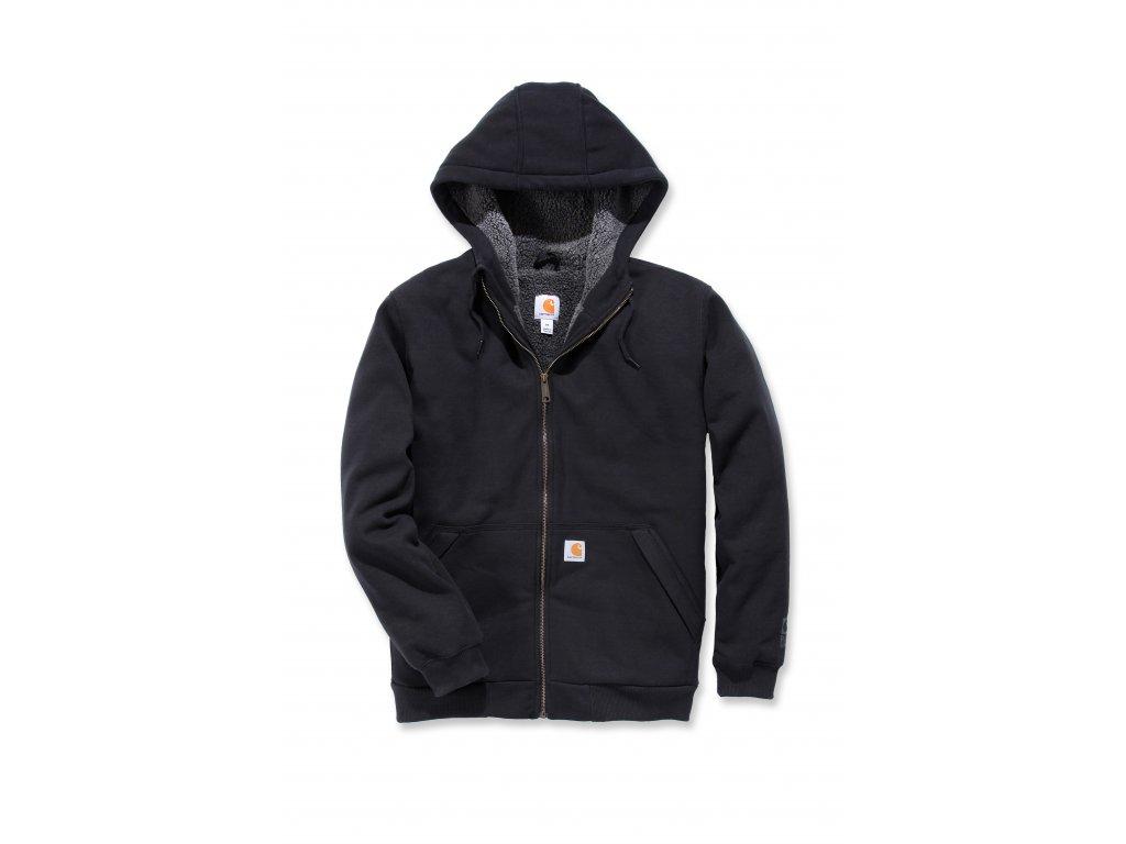 Mikina Carhartt černá Sherpa-Lined Midweight Full-Zip Sweatshirt