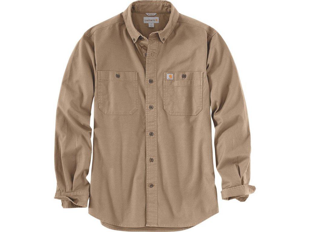 Košile s dlouhým rukávem Carhartt Rugged Flex Rigby Long-sleeve Work Shirt