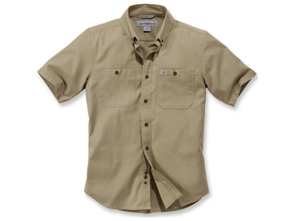 Košile Carhartt Rugged Flex Rigby Short-sleeve Work Shirt