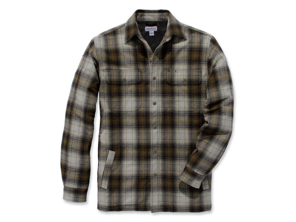 Košile Carhartt Hubbard Sherpa Lined Shirt Jac