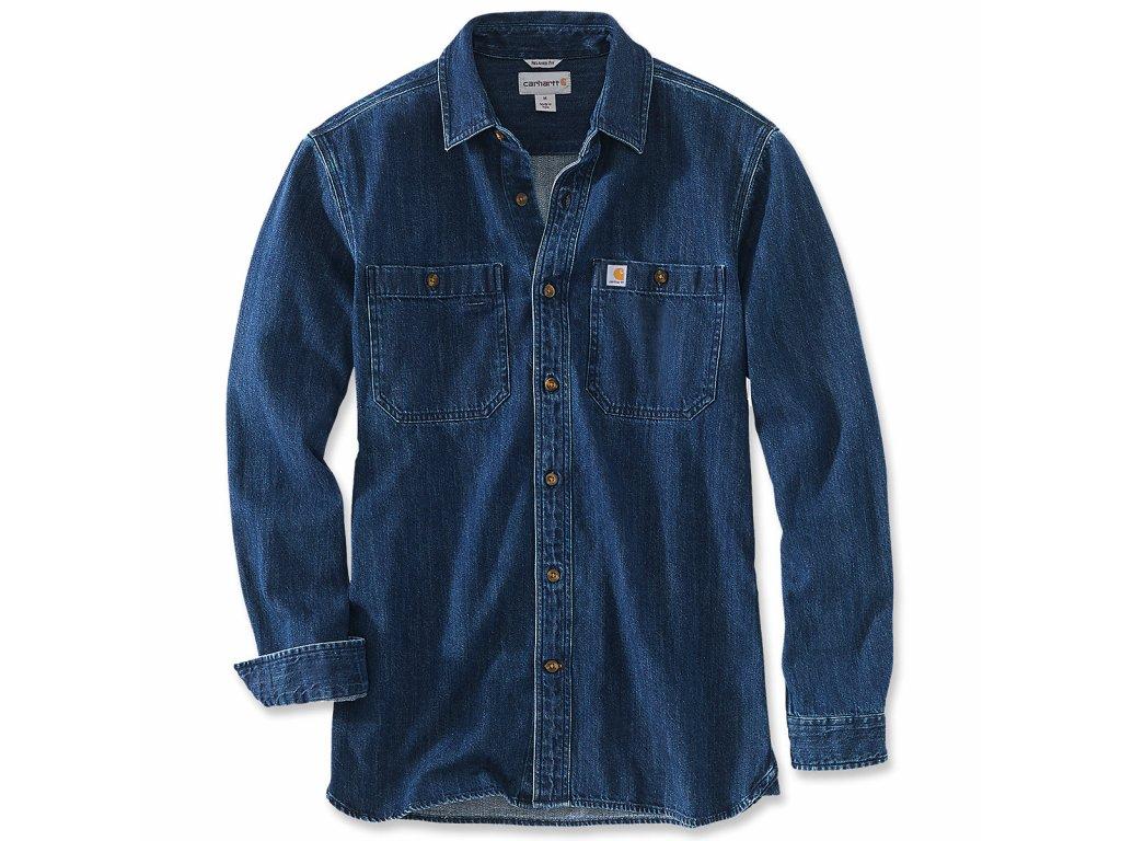 Košile Carhart Emea Denim Long Sleeve Shirt