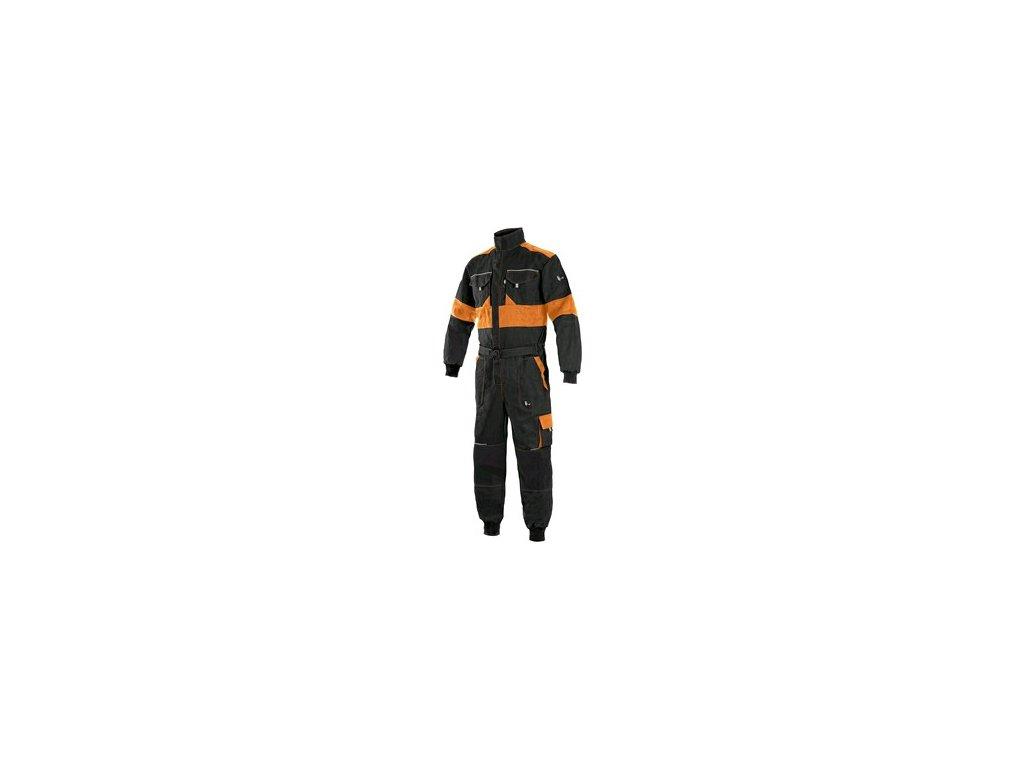Pánská kombinéza CXS LUXY ROBERT, černo-oranžová