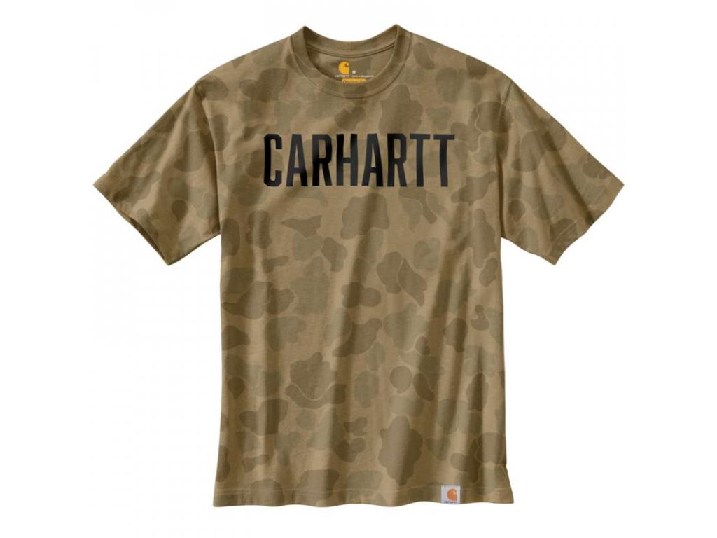 Triko Carhartt Workwear Camo Block Logo T-Shirt