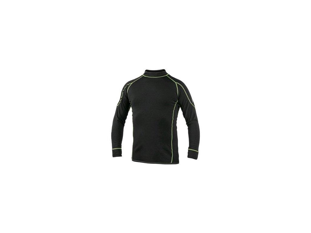 Pánské funkční tričko REWARD, dl. rukáv, černo-zelené