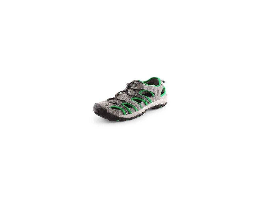 Sandále SAHARA, šedo-zelené