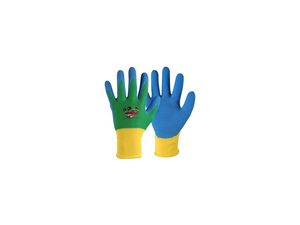Rukavice DRAGO, dětské, máčené v nitrilu, modré