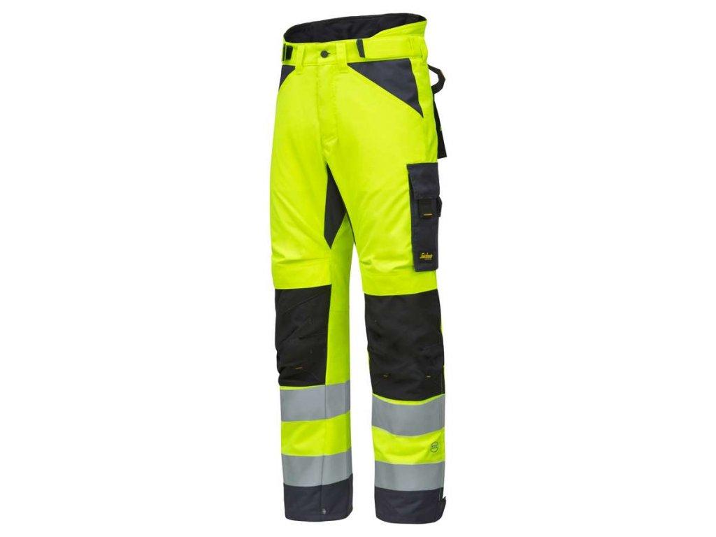 Kalhoty reflexní AllroundWork zimní, třída 2 žluté