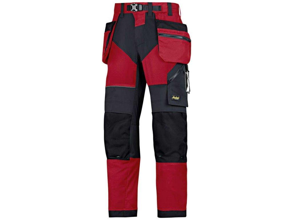 Kalhoty FlexiWork sPK červené