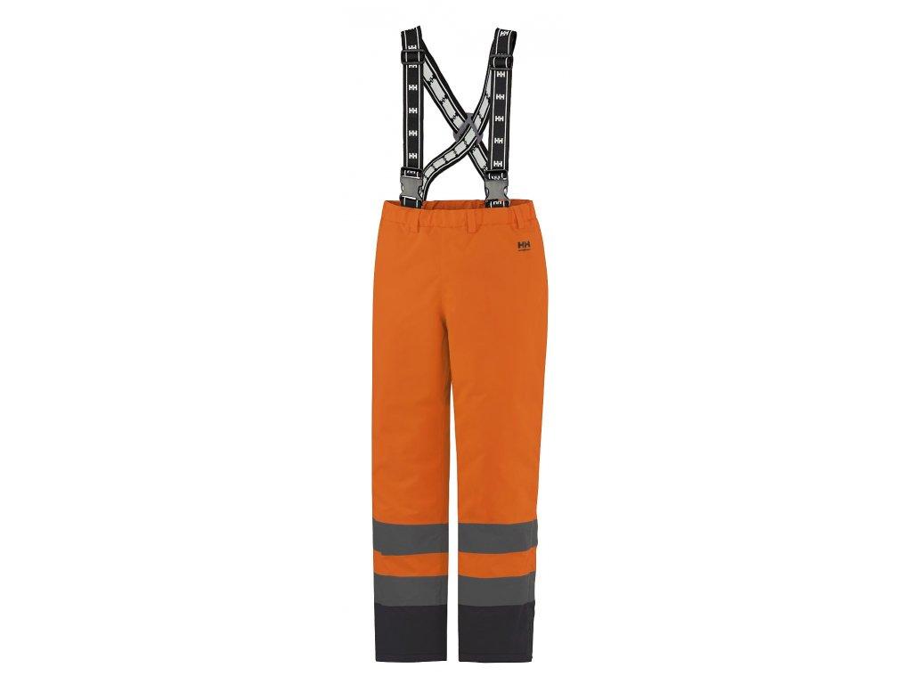 Reflexní zateplené kalhoty ALTA Helly Hansen -  oranžová Hi-Vis