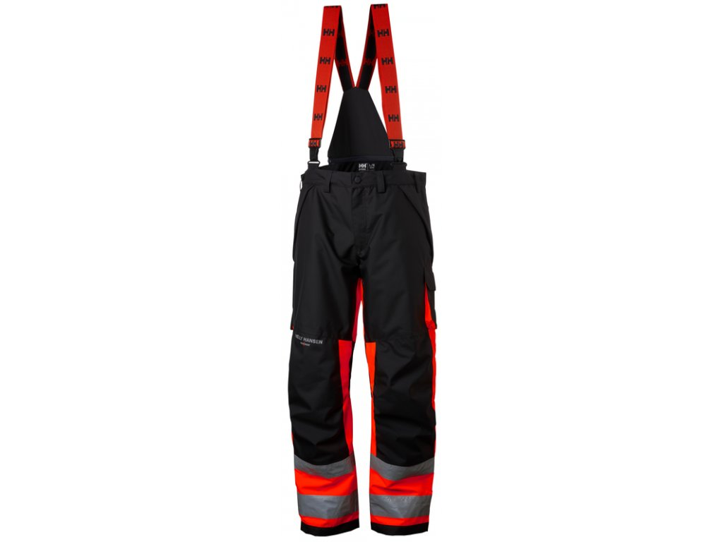 Reflexní zimní kalhoty ALNA CL1 Helly Hansen -červená Hi-Vis