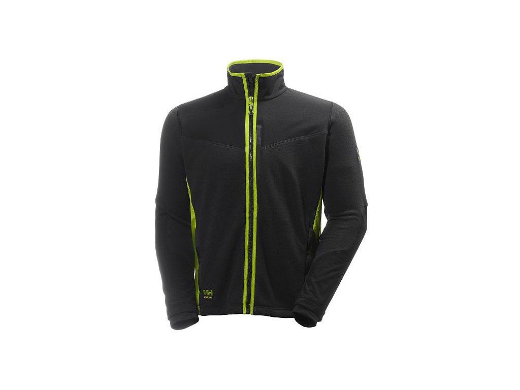 Fleecová bunda MAGNI Helly Hansen černá/zelená