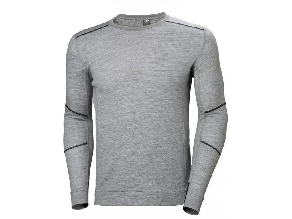 Funkční tričko s merinem HH LIFA MERINO Helly Hansen - šedý melír XS šedá melange