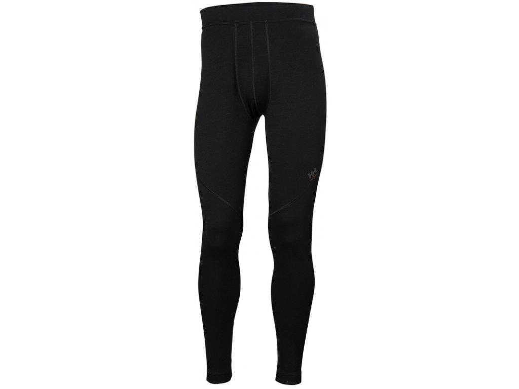 Spodní kalhoty z merina HH LIFA MERINO Helly Hansen - černé XS černá