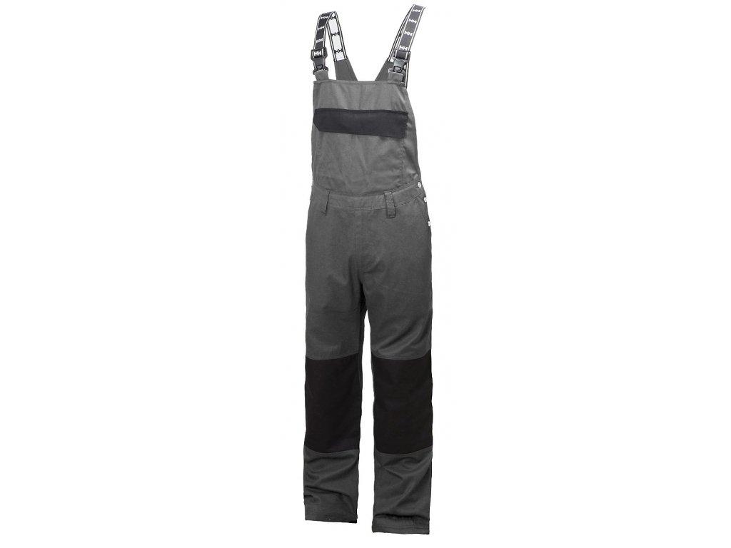 Laclové pracovní kalhoty SHEFFIELD - šedá/černá