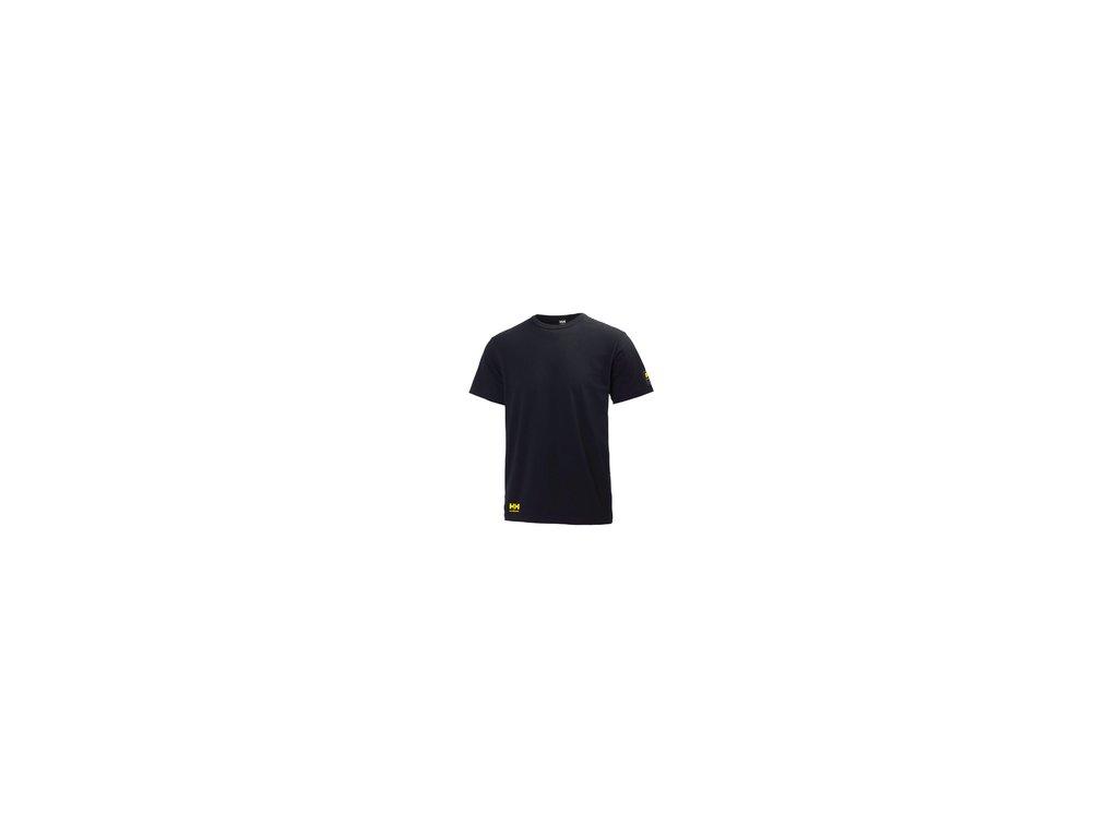 Tričko AKER TEE Helly Hansen - černé