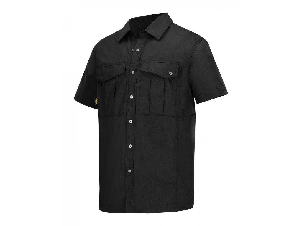 Košile Rip-Stop s krátkým rukávem černá