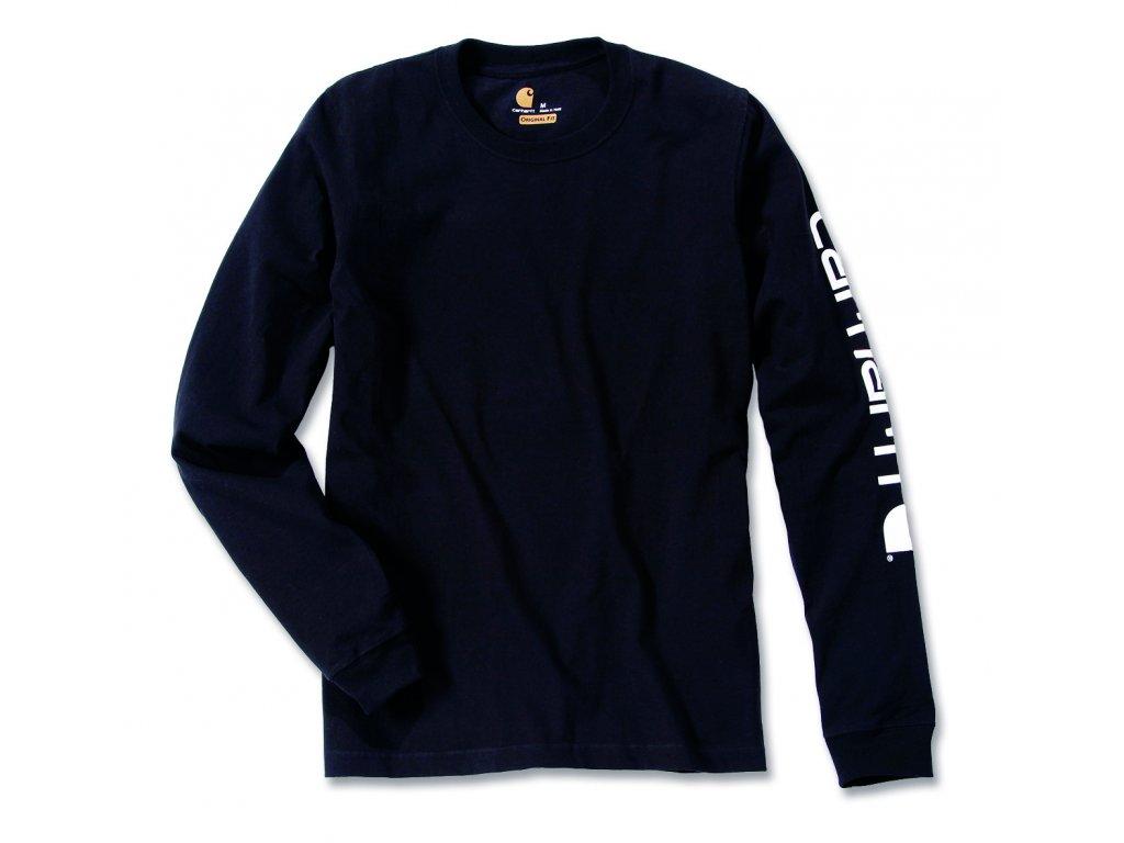 Triko Carhartt černá Long-Sleeve Graphic Logo T-Shirt