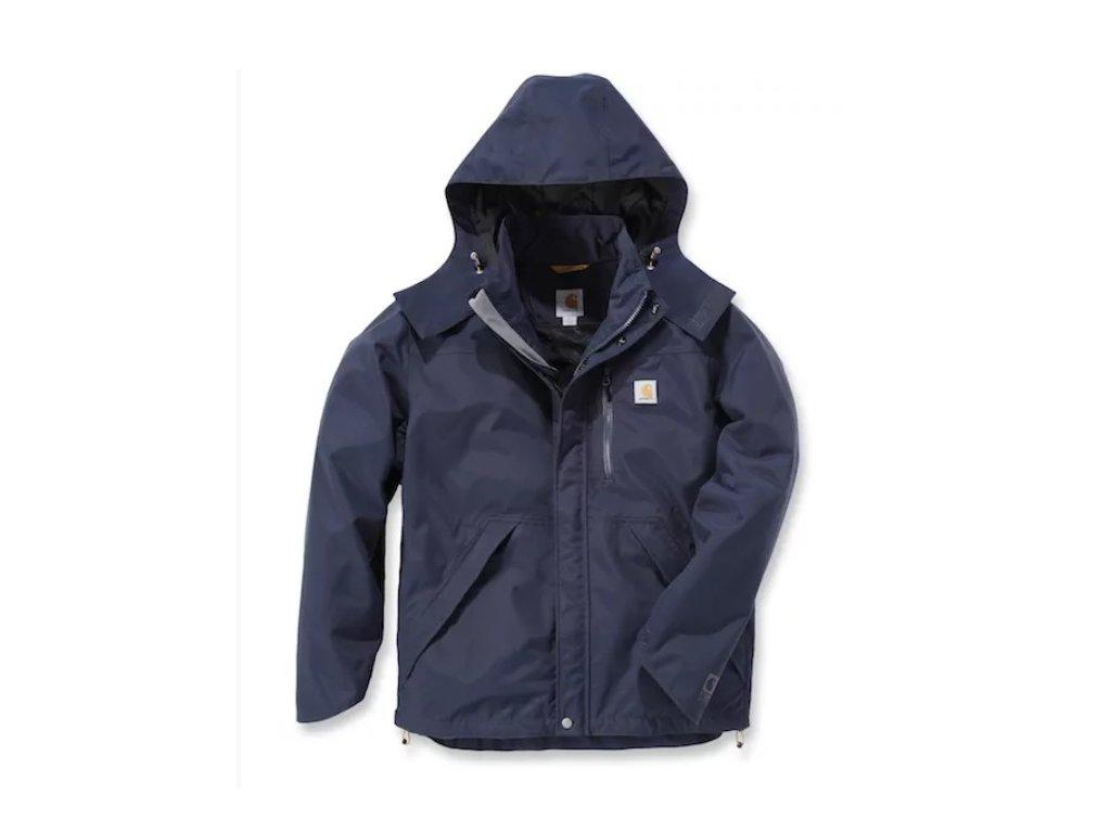 Bunda Carhartt modrá Waterproof Breathable Jacket