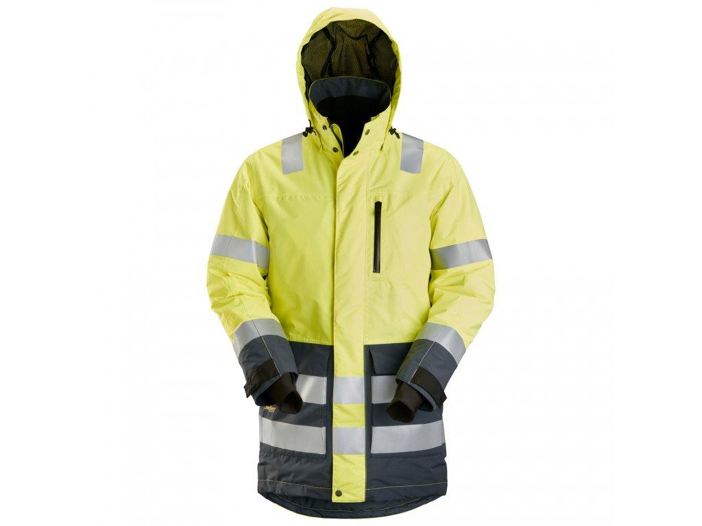 Parka voděodolná AW reflexní žlutá Snickers Workwear