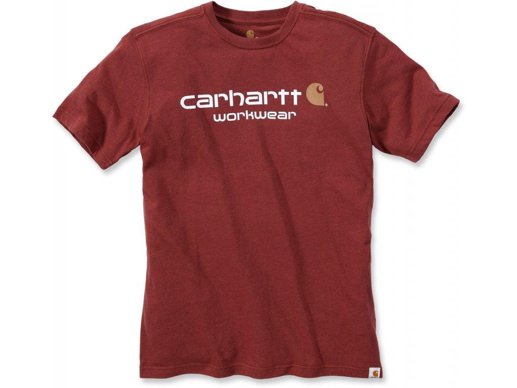 Triko Carhartt červená cihlová Core Logo