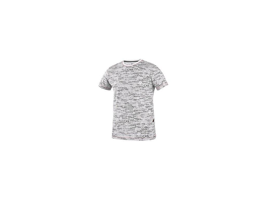 Tričko CXS DARREN, krátký rukáv, potisk CXS logo, bílé