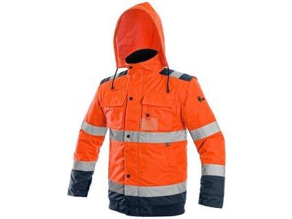 MP-Bunda LUTON, výstražná, oranžovo-modrá