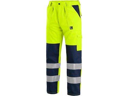 Pánské reflexní kalhoty NORWICH, žluto-modré
