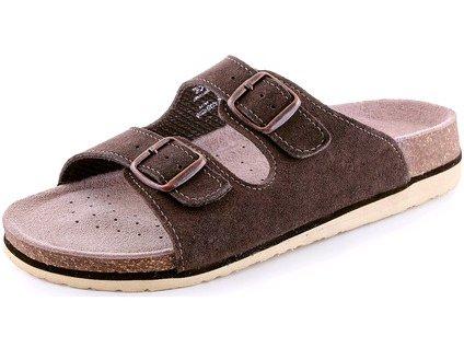 Dámské pantofle CORK ZETA, hnědé