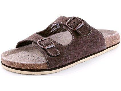 Pánské pantofle CORK ZETA, hnědé
