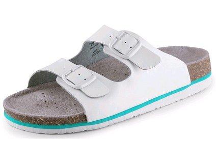 Dámské pantofle CORK LISA, bílé