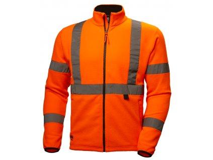 Fleecová mikina ADDVIS Helly Hansen - oranžová XS oranžová Hi-Vis