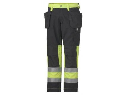 Reflexní řemeslnické kalhoty ALTA Helly Hansen žlutá Hi-Vis