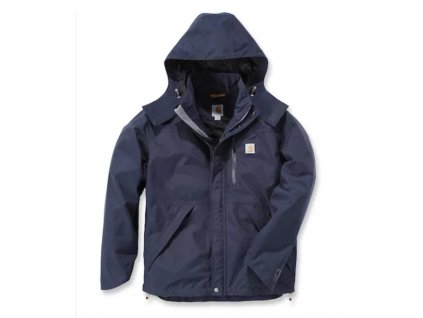 Bunda Carhartt modrá Waterproof Breathable Jacket