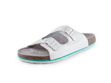 Pánské pantofle CORK LISA, bílé