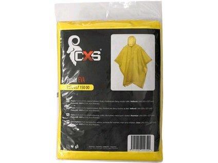 Pončo CXS EVA , žluté,  101x127cm, vel. UNI